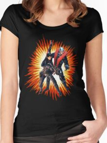 Destro and Baroness Women's Fitted Scoop T-Shirt