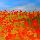 More poppies (oil on canvas) by Margaret Morgan (Watkins)