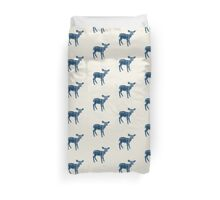 Dear Deer Indigo on Vanilla Duvet Cover