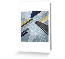 Soft silver/blue/navy/gold Greeting Card