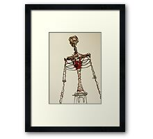 Wire Figure Framed Print