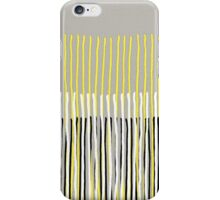 Yellow Rising - Abstract Stripes in Yellow, Grey, Black & White iPhone Case/Skin