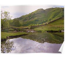 The Lake District: Slater Bridge - The Wider View Poster