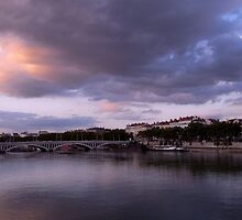 Twilight on Lyon, France by KERES Jasminka