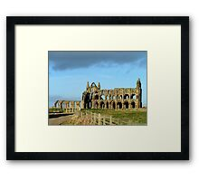 Whitby Abbey ruined yet still glorious Framed Print