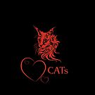 """Catlovers"" - black/red edit by scatharis"
