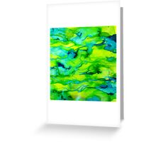 Blue-green algae Greeting Card