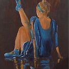resting ballet dancer by Susan Brown