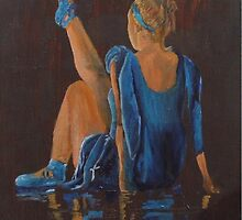 resting ballet dancer by Susan Brown