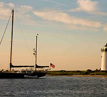 Day's End Edgartown Light by phil decocco