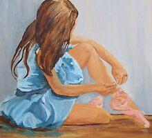 a resting ballet dancer cinderella  by Susan Brown