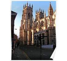 Glorious cathedral York Minster in York Poster