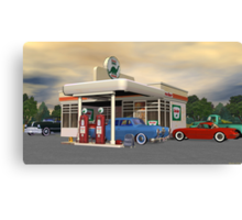 1950's Gas Station Canvas Print