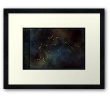 Aquarius zodiac Framed Print