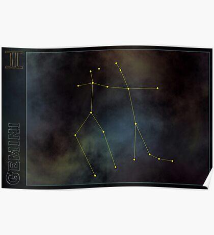 Gemini zodiac Poster
