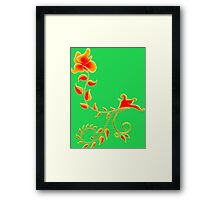 Orange flower ornament Framed Print