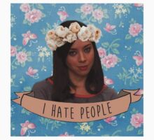 I Hate People - April Ludgate Kids Tee