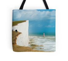 Beachy Head Clifftop and Lighthouse Tote Bag