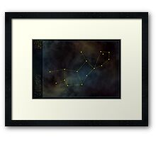Virgo zodiac Framed Print