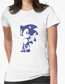 Minimalist Sonic 9 Womens Fitted T-Shirt