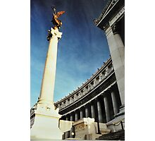 Golden Angel in the Blue Sky ! Photographic Print