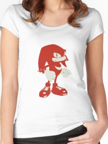 Minimalist Knuckles Women's Fitted Scoop T-Shirt