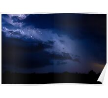 Cloud to Cloud Lightning Storm  07.28.09 Poster