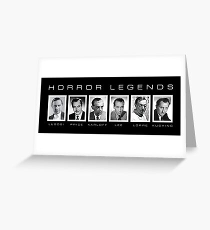 Horror Screen Legends Greeting Card