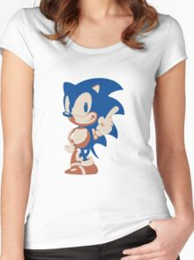 Minimalist Sonic 4 Women's Fitted Scoop T-Shirt