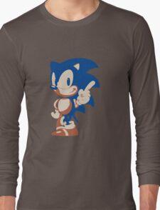 Minimalist Sonic 4 Long Sleeve T-Shirt