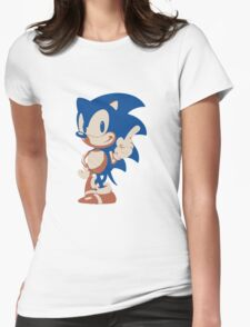 Minimalist Sonic 4 Womens Fitted T-Shirt