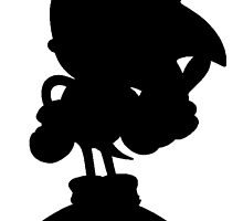 Classic Sonic Silhouette - Black by 4xUlt