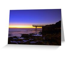 North Beach Jetty At Dusk  Greeting Card