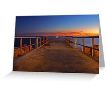 North Beach Jetty  Greeting Card