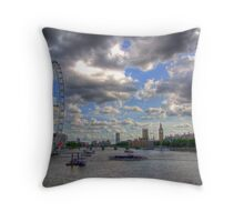 The Wheel and Westminster - HDR Throw Pillow
