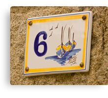 House Numbers - Number 6 Canvas Print