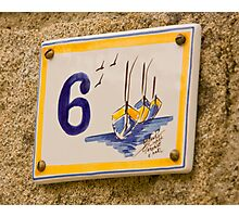 House Numbers - Number 6 Photographic Print