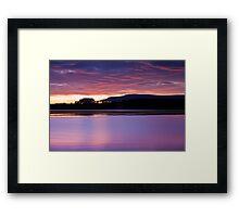 Sunset at Red Lake #3 Framed Print