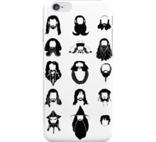 The Bearded Company Black and White iPhone Case/Skin