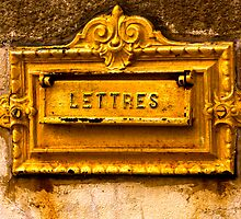 French Mailbox in the Wall - Comme Une Lettre a La Poste  by Buckwhite
