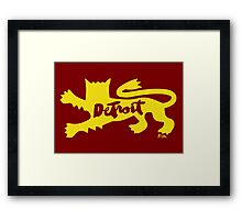 Detroit City Rouge Lion Framed Print