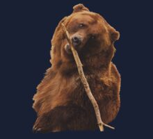 Grizzly Bear Cute Kids Tee