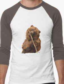 Grizzly Bear Cute Men's Baseball ¾ T-Shirt