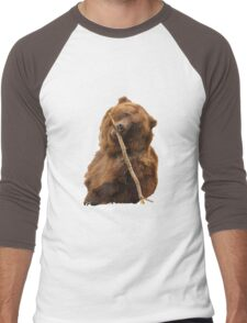 Grizzly Bear Cute Men's Baseball ¾ T-Shirt