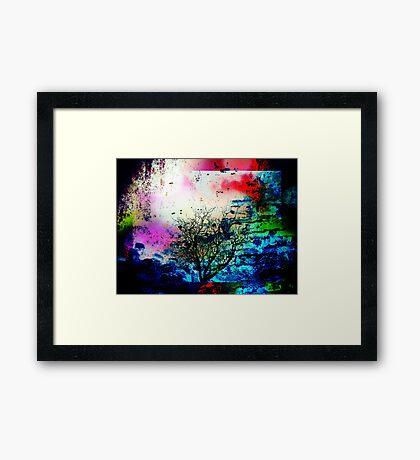 Volcanic Fury Framed Print