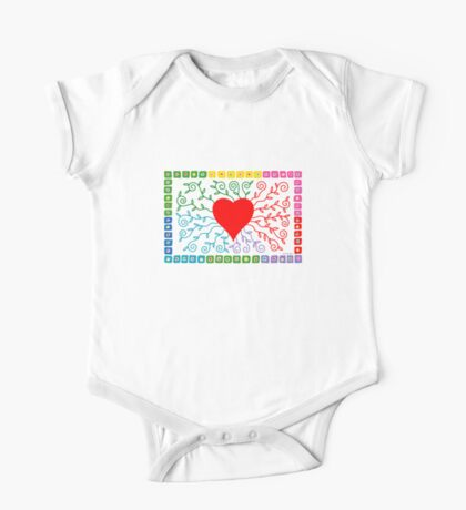 Rainbow Heart  Kids Clothes