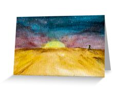 Twilight on the Prairies Greeting Card
