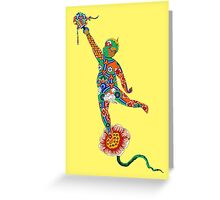 Korean Buddhist Temple Boy Greeting Card
