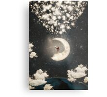 The Big Journey of the Man on the Moon Metal Print