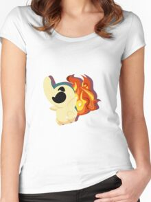 cyndaquil. Women's Fitted Scoop T-Shirt